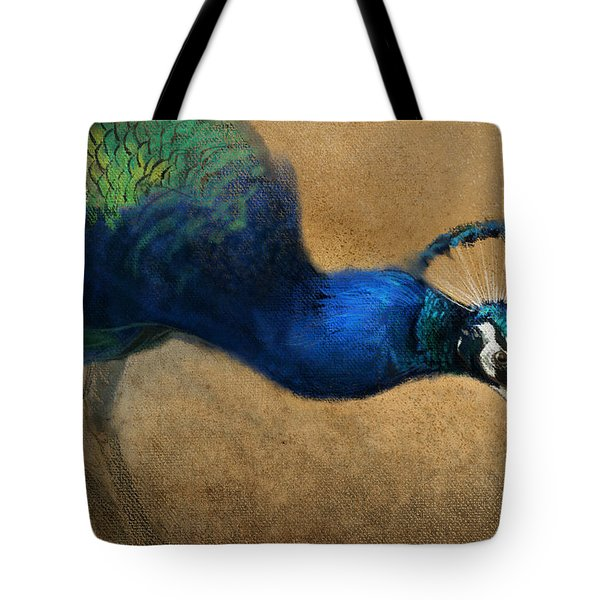 Peacock Light Tote Bag by Aaron Blaise