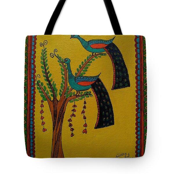 Peacock-madhubani Tote Bag