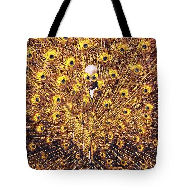 Peacock Man Tote Bag by Seth Weaver