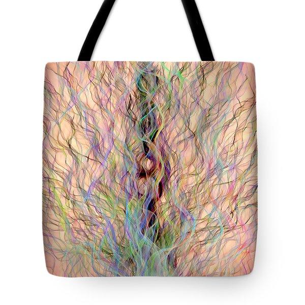 Tote Bag featuring the digital art Peacock by Matt Lindley