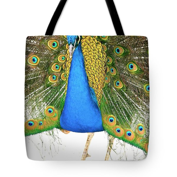 Peacock Presence Tote Bag