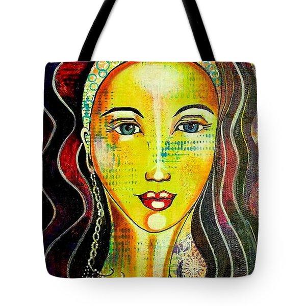 Peacock Princess Tote Bag by Julie Hoyle