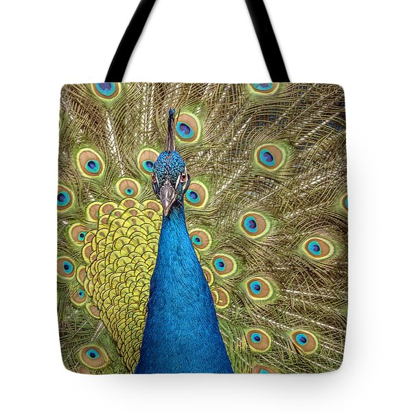 Peacock Splendor Tote Bag