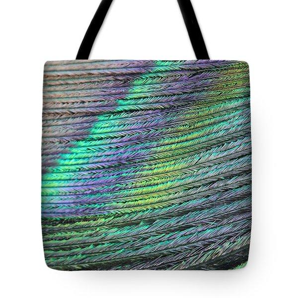 Peacock Stripes Tote Bag