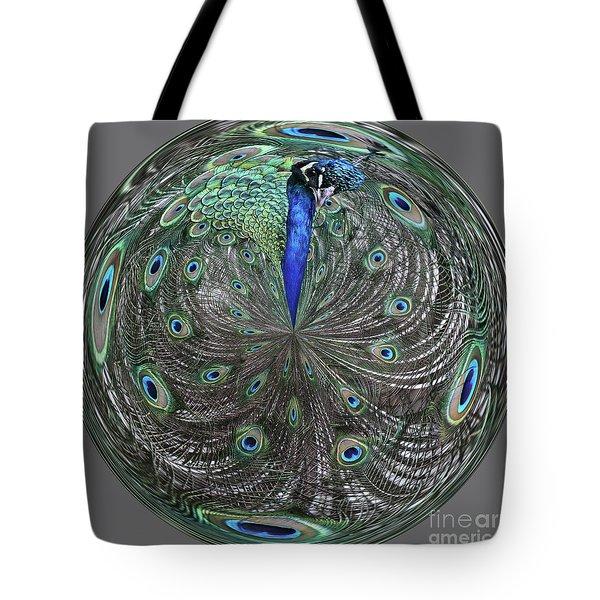 Peacock Swirl #2 Tote Bag