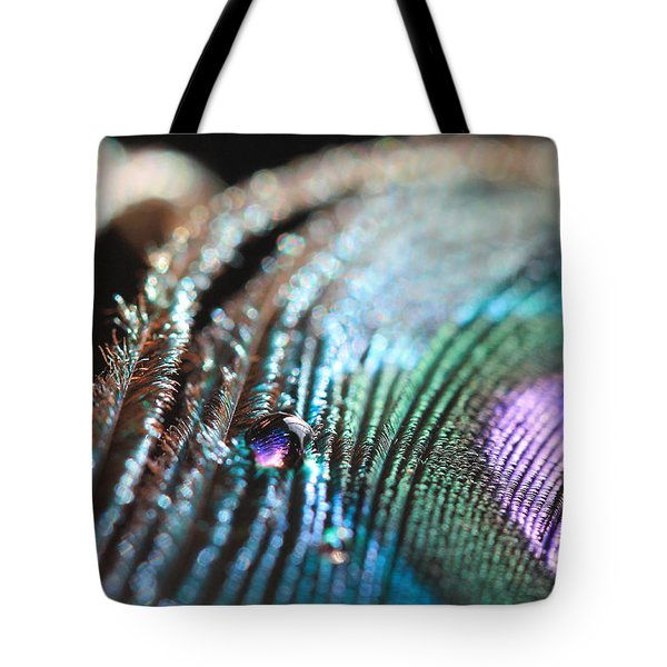 Peacock Swirls Tote Bag
