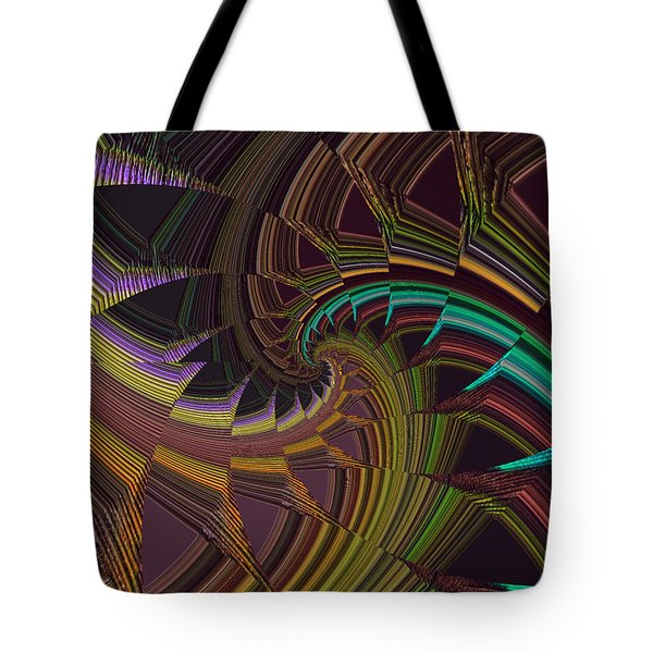 Peacock Tail Abstract Tote Bag