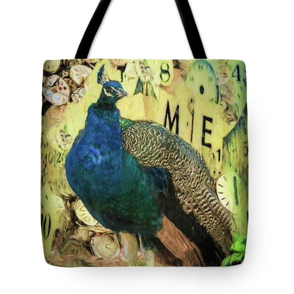 Peacock Time Tote Bag