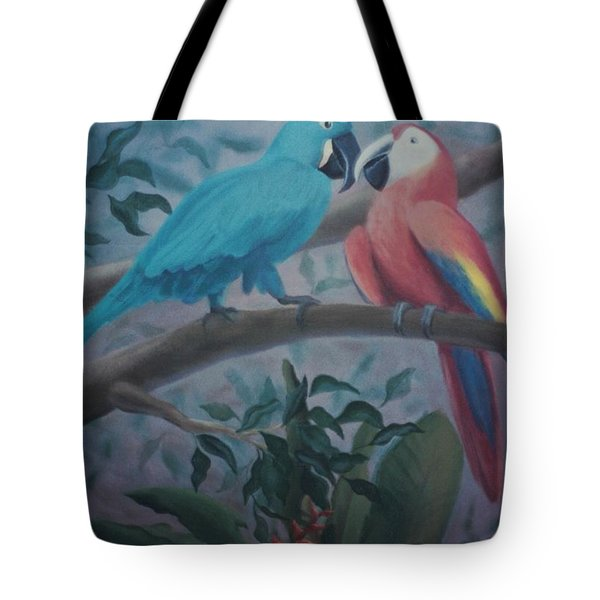 Peacocks In The Jungle Tote Bag