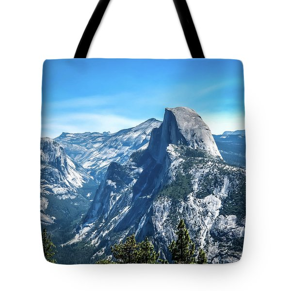 Tote Bag featuring the photograph Peak Of Half Dome- by JD Mims