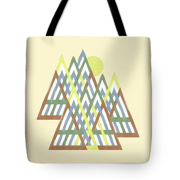 Tote Bag featuring the digital art Peak Peek by Deborah Smith