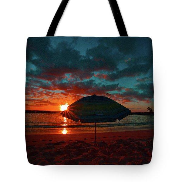 Peaking Sunset Tote Bag