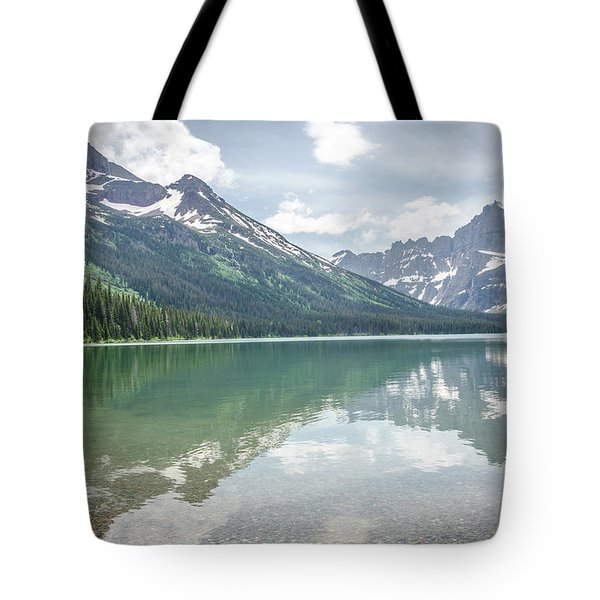 Peaks At Lake Josephine Tote Bag