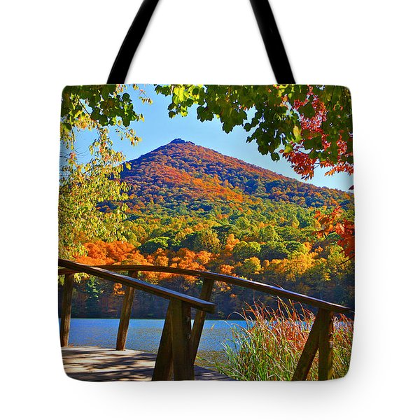 Peaks Of Otter Bridge Tote Bag