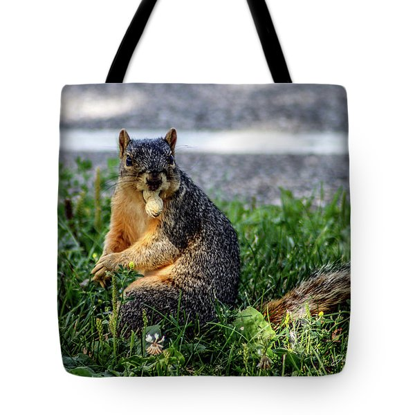 Tote Bag featuring the photograph Peanut by Joann Copeland-Paul