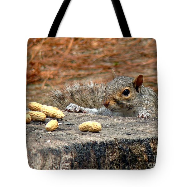 Tote Bag featuring the photograph Peanut Surprise by Sue Melvin