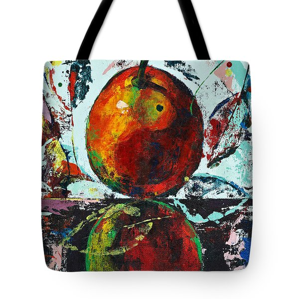 Pear And Reflection Tote Bag