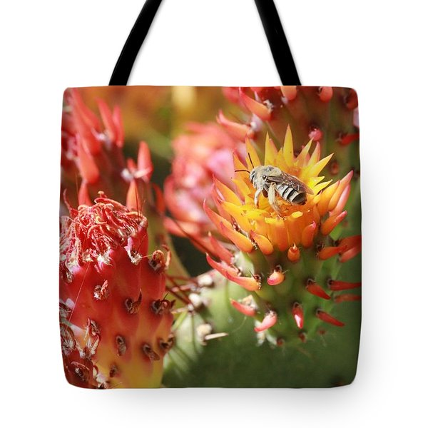 Pear Bee Tote Bag
