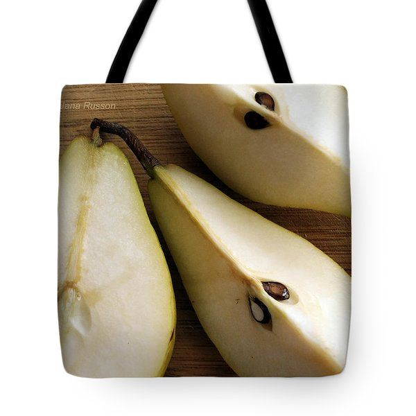 Pear Cut In Three Tote Bag