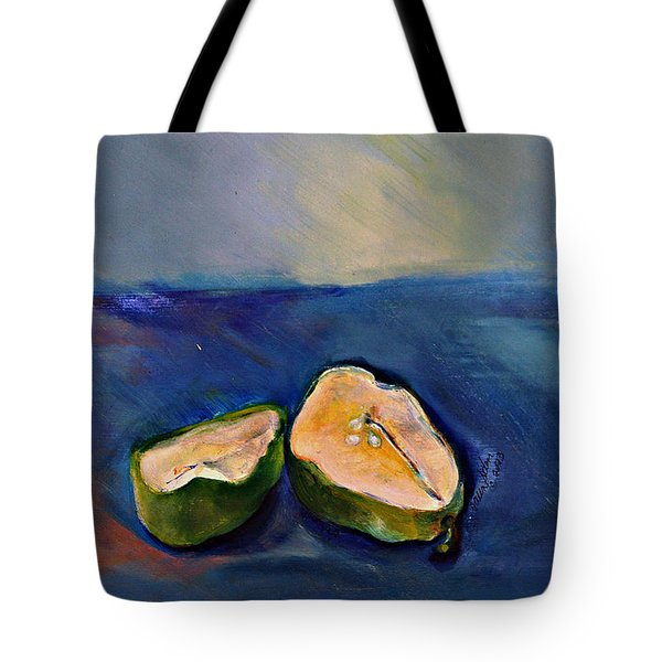 Pear Split Tote Bag by Daun Soden-Greene