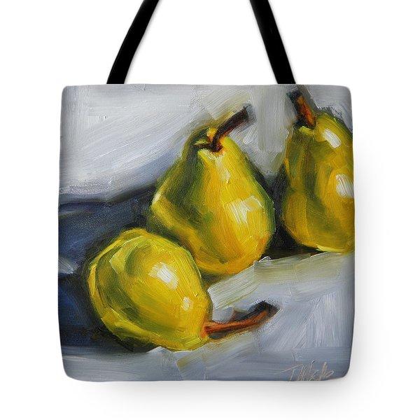 Pear Trio Tote Bag