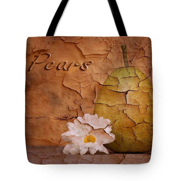 Pear With Daisy Tote Bag