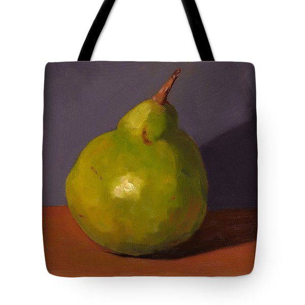 Pear With Gray Tote Bag
