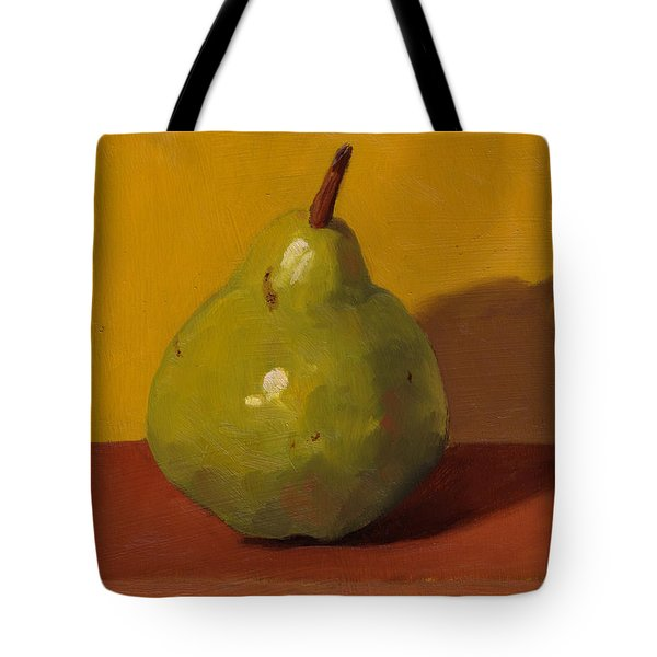 Pear With Yellow Tote Bag