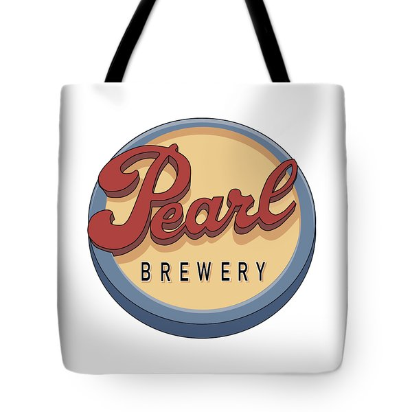 Pearl Brewery Sign Tote Bag