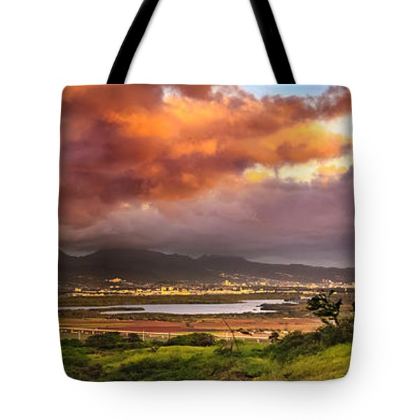 Pearl Harbor Sunset Tote Bag