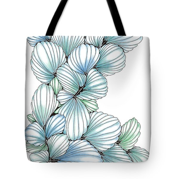 Pearlescent Plume Tote Bag