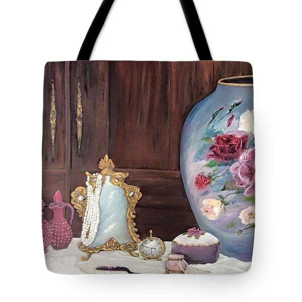 Pearls And Lace Tote Bag