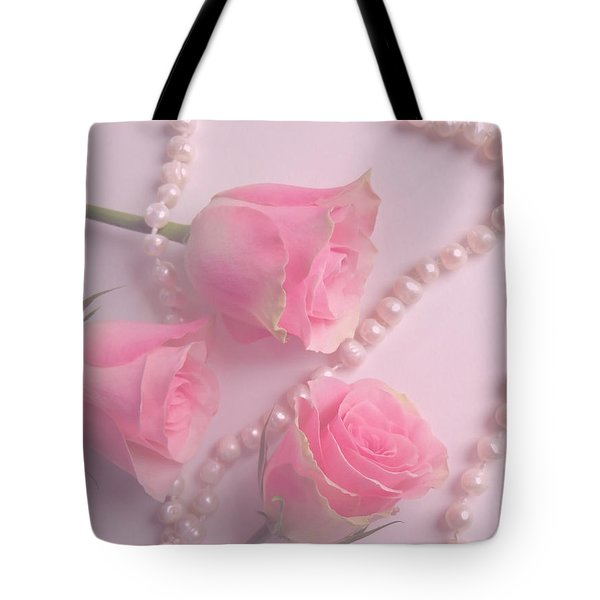 Pearls And Roses Tote Bag