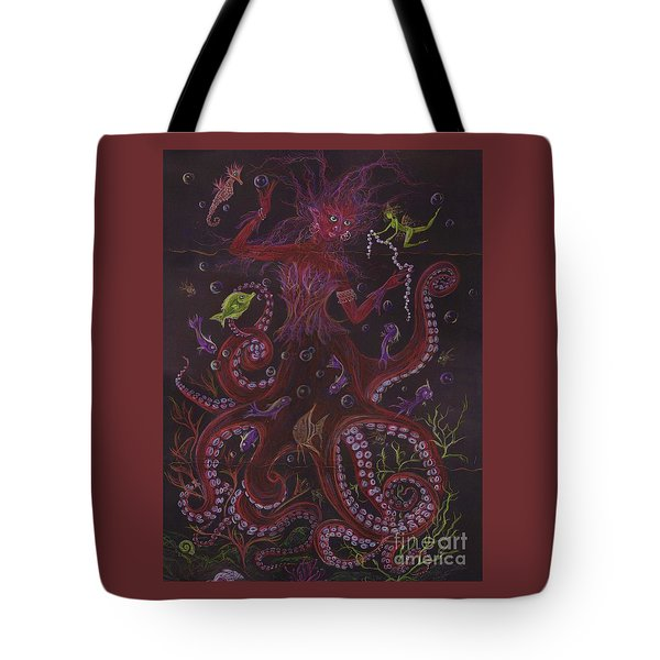 Tote Bag featuring the drawing Pearls by Dawn Fairies