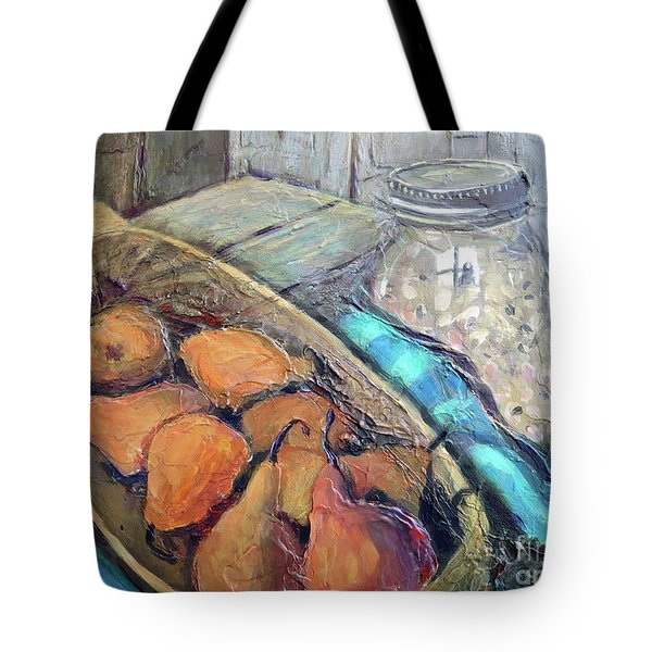 Pears And Peas Tote Bag by Gretchen Allen