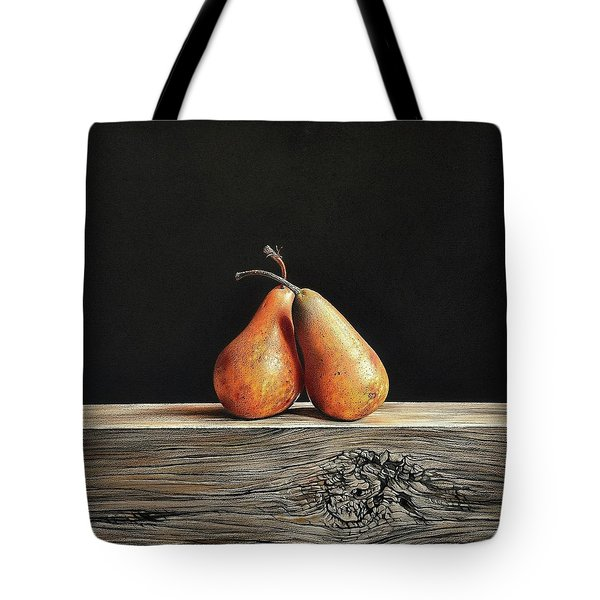 Pears Tote Bag by Elena Kolotusha