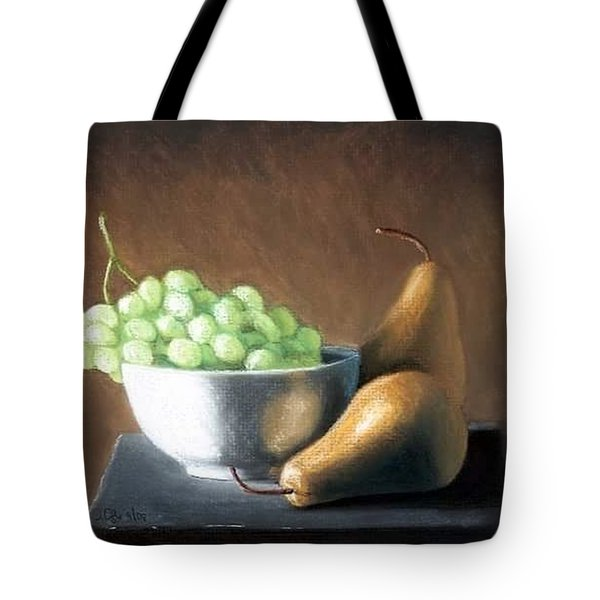 Pears N Grapes Tote Bag