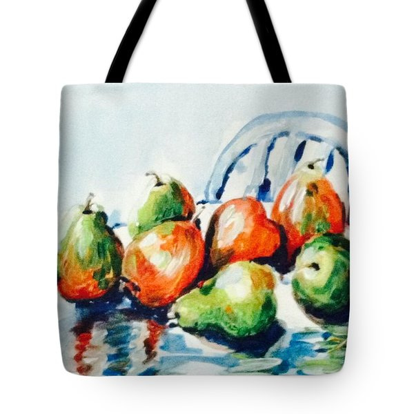 Pears On The Table Tote Bag