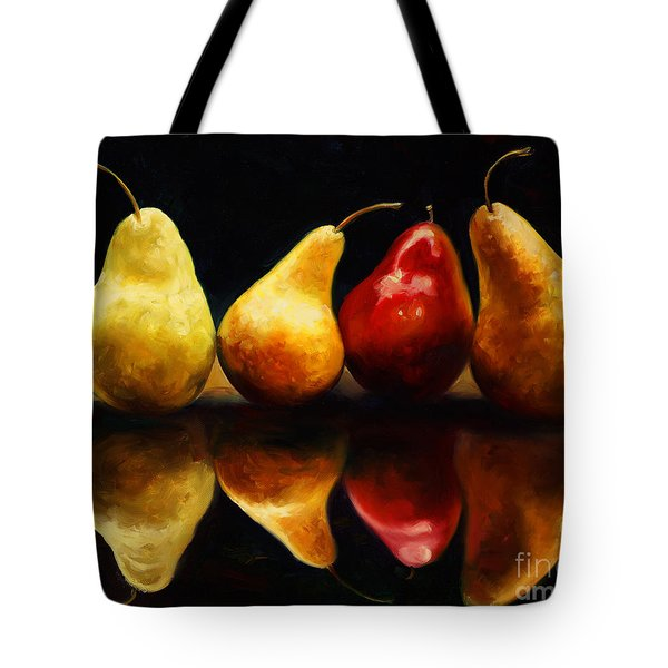 Pearsfect Tote Bag by Laurie Hein