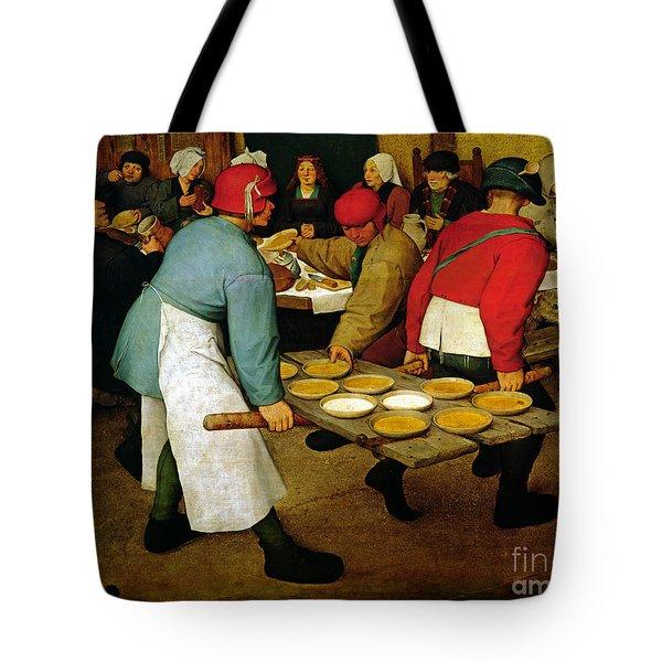 Peasant Wedding Tote Bag by Pieter the Elder Bruegel