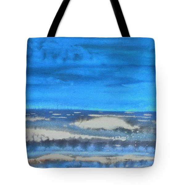 Tote Bag featuring the painting Peau De Mer by Marc Philippe Joly
