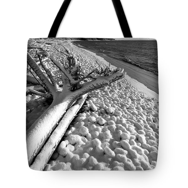 Pebble Beach Winter Tote Bag