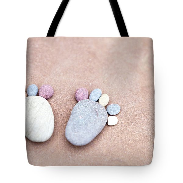 Pebble Feet Tote Bag