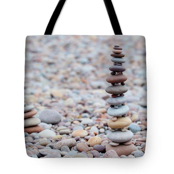 Pebble Stack II Tote Bag by Helen Northcott