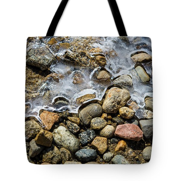 Pebbles And Ice Tote Bag