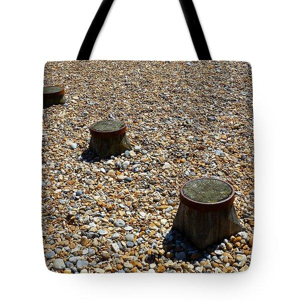 Pebbles And Wood Tote Bag