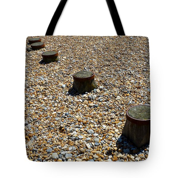 Pebbles And Wood Tote Bag