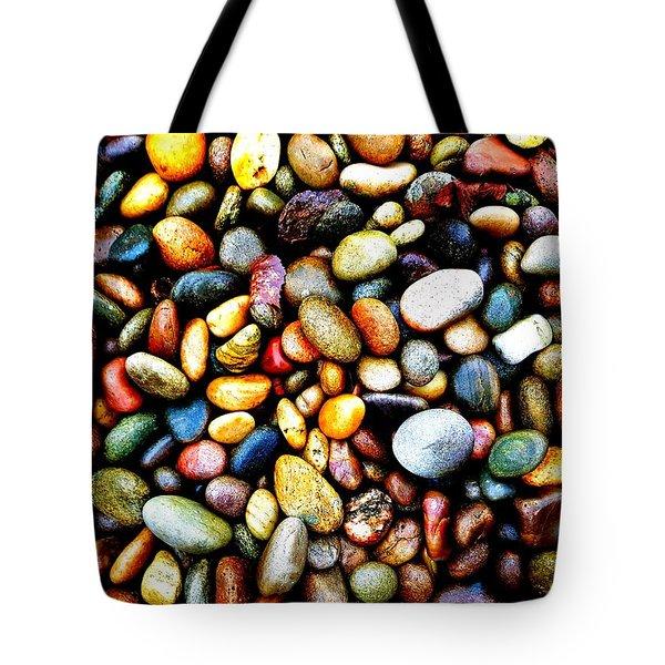 Pebbles On A Beach Tote Bag