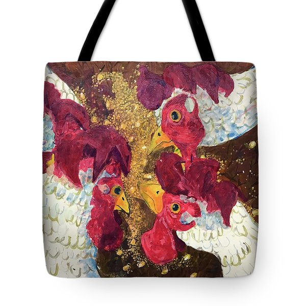 Pecking Order Tote Bag by Jame Hayes