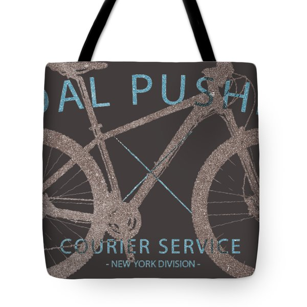 Pedal Pushers Courier Service Bike Tee Tote Bag